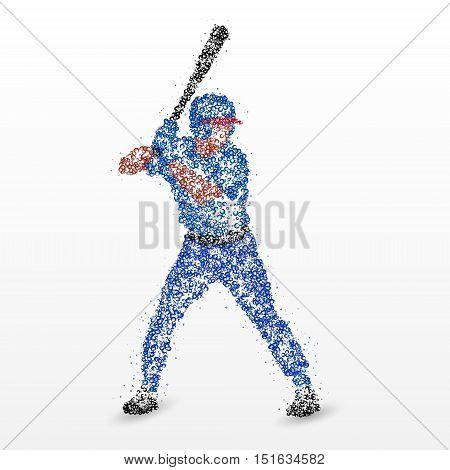 Baseball player with a bat. Photo illustration.