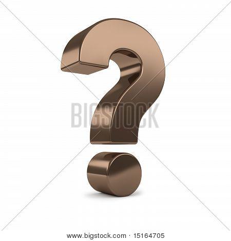 bronze 3d question mark