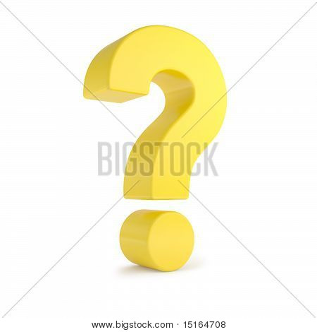 yellow 3d question mark