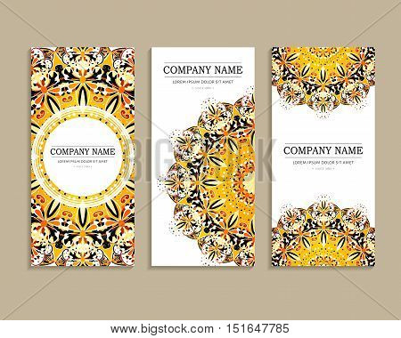 Set Of Design Cards For Business