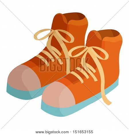 Pair of boots icon. Cartoon illustration of pair of boots vector icon for web
