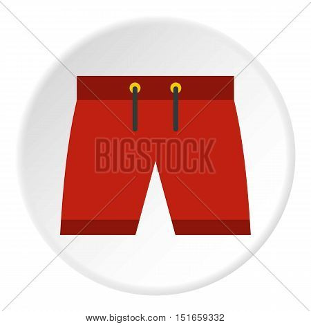 Summer shorts icon. Flat illustration of shorts vector icon for web design