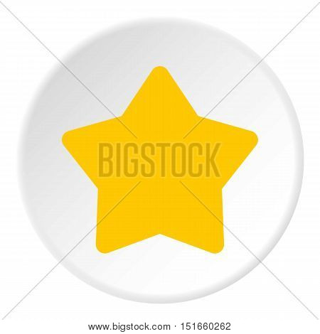 Five pointed yellow star icon. Flat illustration of five pointed yellow star vector icon for web