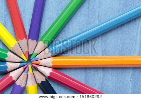 foreground of some crayon mines forming a circle