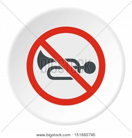 Sign no trumpet icon. Flat illustration of sign no trumpet vector icon for web