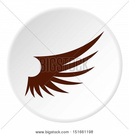 Brown wing icon. Flat illustration of brown wing vector icon for web