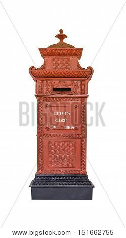 Letter box isolated on white with clipping path