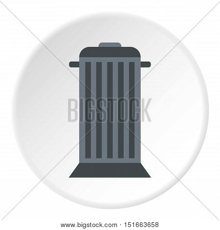 Street trash icon. Flat illustration of street trash vector icon for web