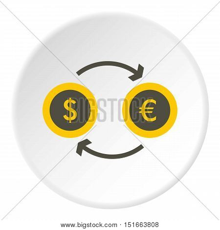 Money exchange icon. Flat illustration of money exchange vector icon for web