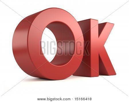 big 3d text - ok