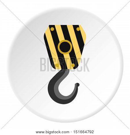 Lifting hook icon. Flat illustration of lifting hook vector icon for web