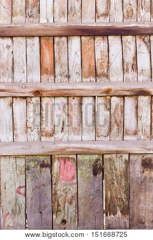 wooden fence of horizontal a planks background