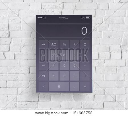 Calculator Calculate Accounting Application Concept