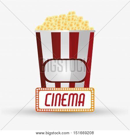 Pop corn icon. Cinema movie video film and entertainment theme. Colorful design. Vector illustration