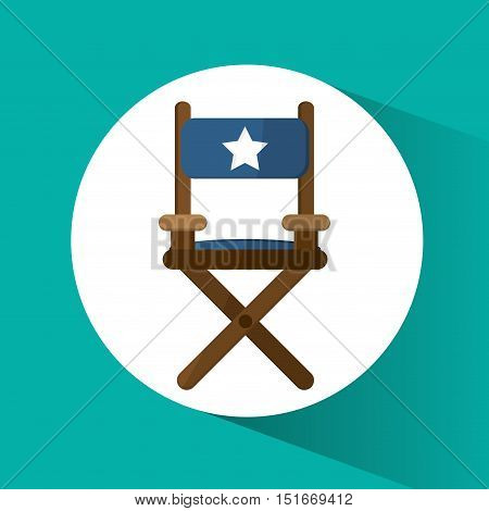 Directors chair icon. Cinema movie video film and entertainment theme. Colorful design. Vector illustration