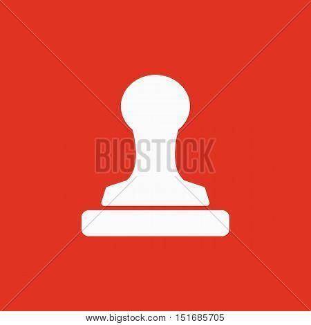 The stamp icon. Cliche symbol. Flat Vector illustration