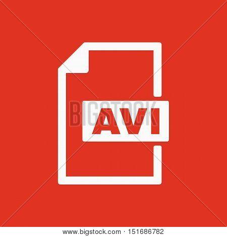 The AVI icon. Video file format symbol. Flat Vector illustration