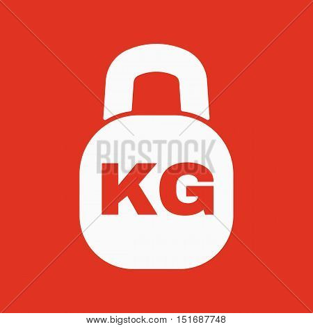 The kilogram icon. Kg and weight symbol. Flat Vector illustration