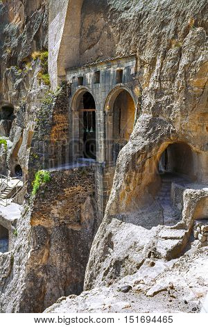 Vardzia is a cave monastery complex of XII-XIII centuries in the South of Georgia