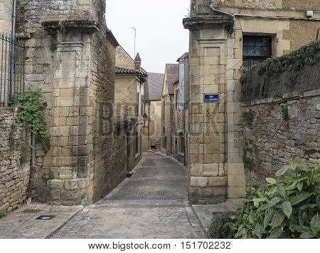 historical and medieval town of Sarlat whole France