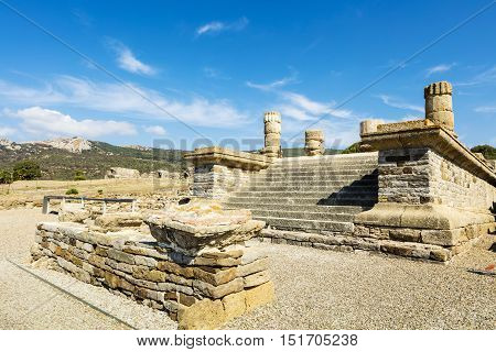 Ruins of Baelo Claudia is an ancient Roman town situated on the Costa de la Luz in Spain.