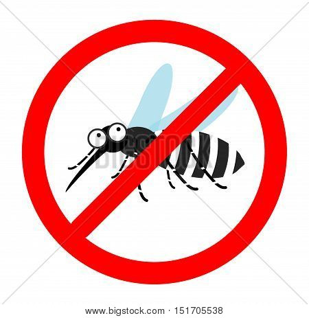 Anti mosquito sign, Mosquito repellent vector, mosquito warning sign, stop mosquito sign , no mosquito. Vector illustration.