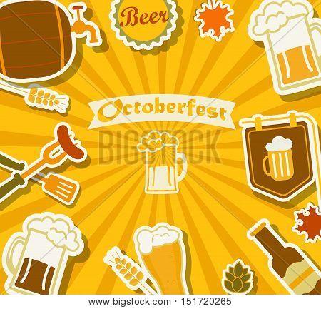 Beer's Festival background Octoberfest, vector illustration. EPS10