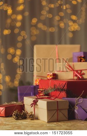 Beautifully Packed Christmas Presents