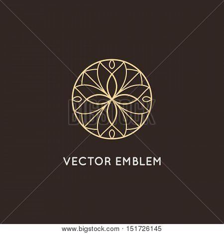 Vector Logo Design - Cosmetics And Beauty Concept