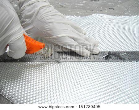 white glass fiber composite raw material background