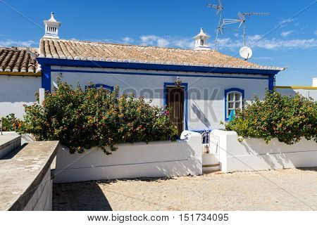 Cacela Velha is situated on top of a hill with a view to the easternmost lagoon of the Ria Formosa.