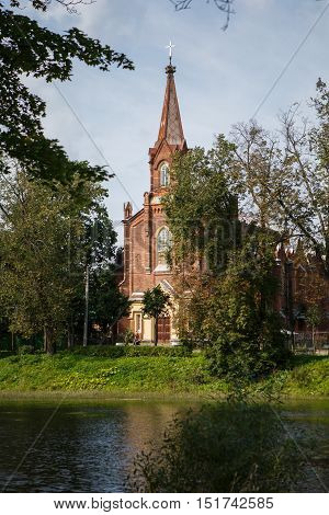 Old Lutheran Church of Resurrection in town of Pushkin, center of parish of the Evangelic Lutheran Church of Ingria. Local religious organization