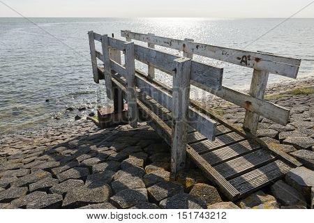 Control dock on a water luis on the Wadden island Vlieland in the Netherlands
