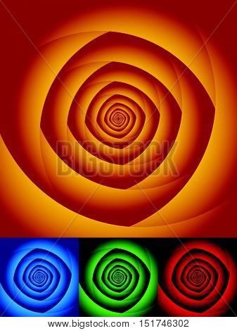 Radial Circles Abstract Background. Spiral, Vortex Geometric Pattern