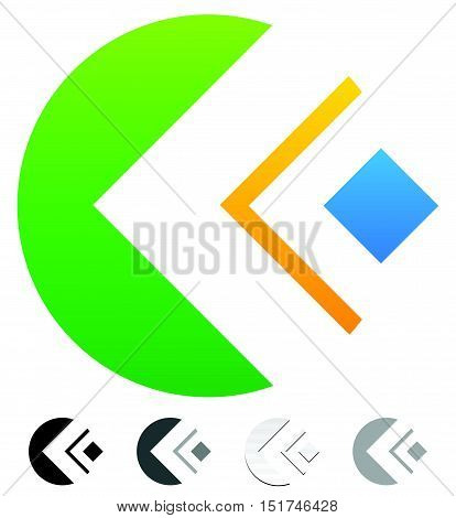 Geometric Colorful Abstract - Generic Logo Template. Different Grayscale, Black And White Versions I