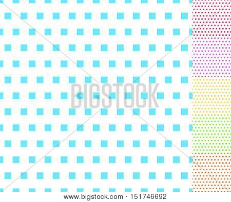 Basic repeatable white plus one color pattern. Simple geometric pattern for backgrounds. poster