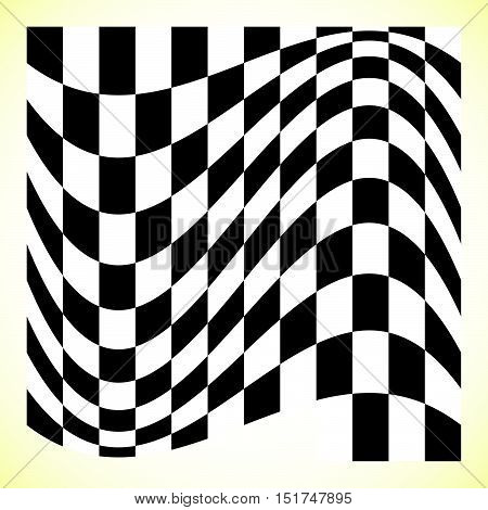 Checkered Pattern (chess Board, Checker Board) With Distortion