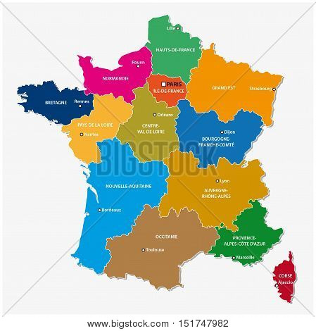 The New Regions Of France Since Map 3