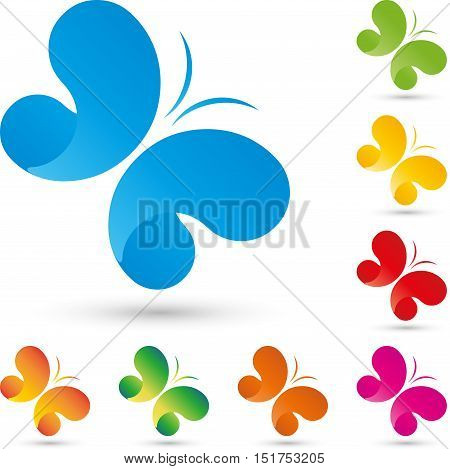 Butterfly colored, butterfly logo, insect and butterfly logo