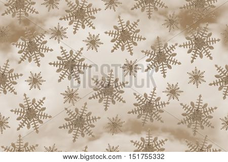 Gold Snowflake Tile Pattern Repeat Background that is seamless and repeats