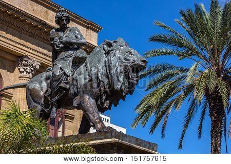 Lyric Seated On A Lion