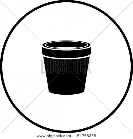 clay planter pot symbol