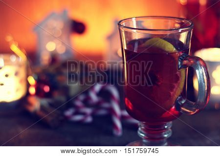 christmas grog with orange cinnamon and sugar