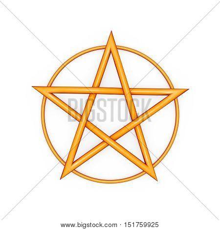 Illustration of a pentagram pentacle symbol icon.
