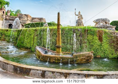 The Fountain Of Rometta, Tivoli, Villa D'este, Italy