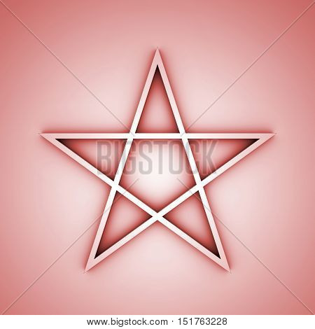 Illustration of a pentacle pentagram symbol icon.