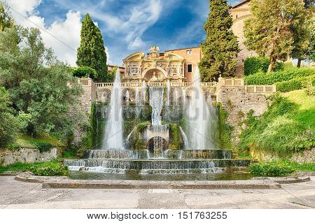 The Fountain Of Neptune, Villa D'este, Tivoli, Italy