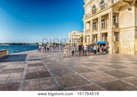 Primorsky Boulevard, Scenic Waterfront Of Sevastopol, Crimea
