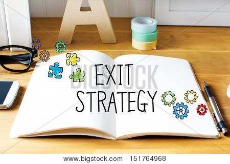 Exit Strategy Concept With Notebook