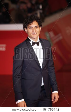 Rome Italy - October 13, 2016: Rome Film Festival Eleventh Edition. Red carpet with Moonlight pictured actor Alessandro Tersigni